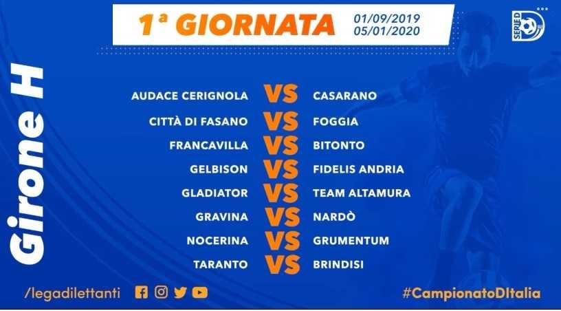 Calendario Lega Pro Foggia.Serie D L Us Fasano Debuttera Contro Il Foggia In Casa